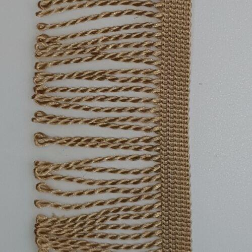 Fine Bullion Frange Largeur 60 mm-par mètre ou Reel-Dance /& mobilier