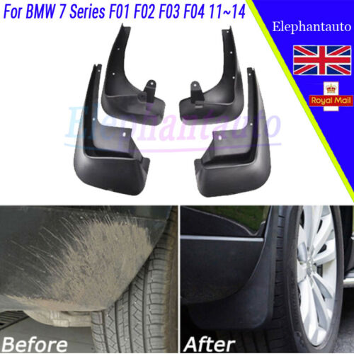 Genuine OEM Set Splash Guards Mud Flaps Fender For 08-2016 BMW 7 Series F01 F02