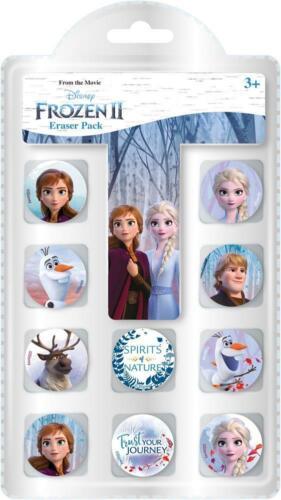 Disney Frozen 2 Childrens Erasers 10 Pack Back to School Girls