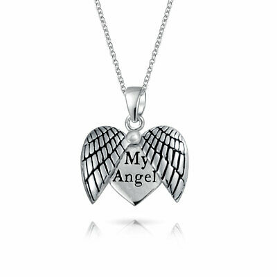 FB Jewels 925 Sterling Silver Angel Heart Pendant