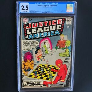 JUSTICE-LEAGUE-of-AMERICA-1-DC-1960-CGC-2-5-OW-PGs-SILVER-AGE-KEY