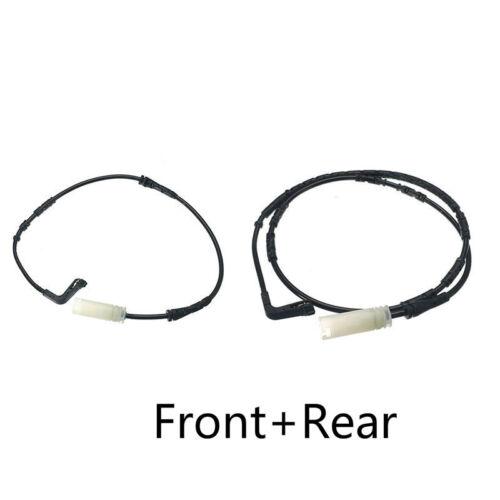 Front+Rear Disc Brake Pad Wear Warning Sensor For BMW 1//3 SERIES E90 E91 E92 E93