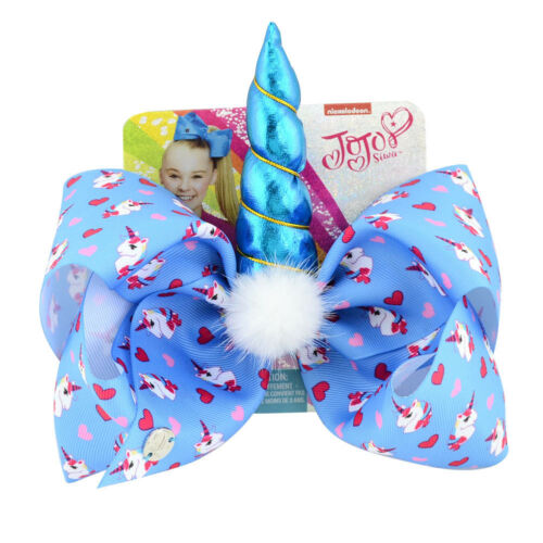 JoJo Siwa Big Cute Hair Bow With Alligator Clip Girl Kids Bowknot 8inch Gifts CL