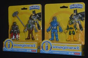 STEEL & METALLO and DARKSEID & MINION Imaginext DC Super Friends MIP New!