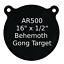 """One AR500 Steel Target Gong 1//2/"""" x 16/"""" Painted Black Shooting Practice Range"""