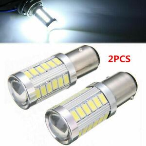 LED-Car-2x-White-Bulbs-BA15S-P21W-1156-Backup-Reverse-Light-12V-33-SMD-5630-5730