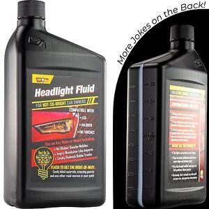 Headlight Blinker Fluid Hilarious Car Gag Gift Empty Bottle Prank by Witty Yeti