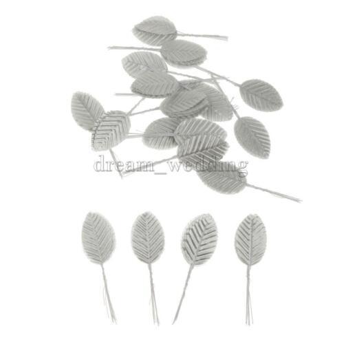 200 Künstliche Blätter Deko Blätterzweig Grün Floristik Basteln