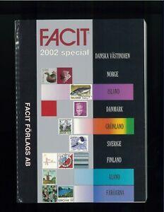 2002-FACIT-Special-Scandinavian-Postage-Stamp-Catalogue-Norway-Sweden-Denmark