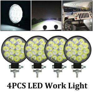 4pcs-Truck-Off-Road-Tractor-ATV-LED-Work-Light-SPOT-Lights-12V-24V-Round-42W-New