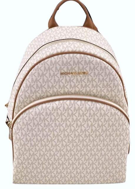 3f12fe5980e7 Womens Michael Kors Abbey Large Backpack Book School Bag Vanilla ...