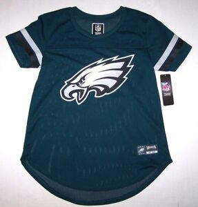 cbd53e01 Details about Nwt New Philadelphia Eagles Replica Jersey Top NFL Team Est  33 Green Mesh Women