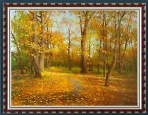 "Hand-painted Original Oil painting art Landscape birch forest Canvas 30""x40"""