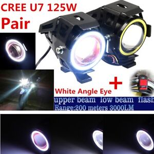2PCS-CREE-U7-Motorcycle-high-low-flash-3-lighting-modes-Spot-Lamp-DRL-Fog-light