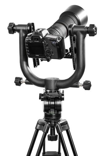 Movo GH1000 Carbon Fiber Double Gimbal Tripod Head with Arca-Swiss Release Plate
