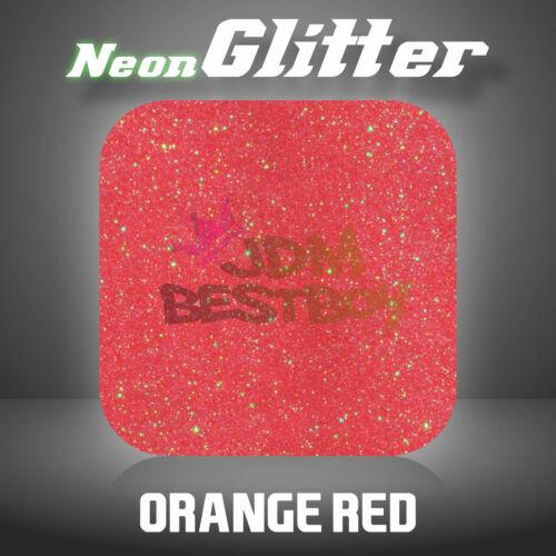 """Orange Red Neon Glitter Heat Transfer Vinyl HTV T-Shirt 20/"""" Iron On Heat Press"""