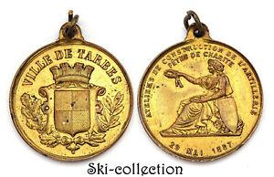 Medalla-Ayuntamiento-Tarbes-Talleres-De-Construccion-Artilleria-1887-Francia