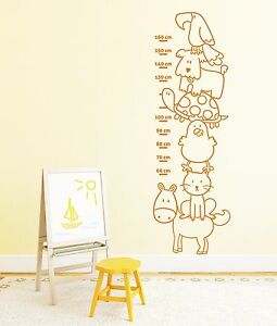 wandtattoo messlatte kinderzimmer wandaufkleber baby tiere ma band pkm212 180 ebay. Black Bedroom Furniture Sets. Home Design Ideas