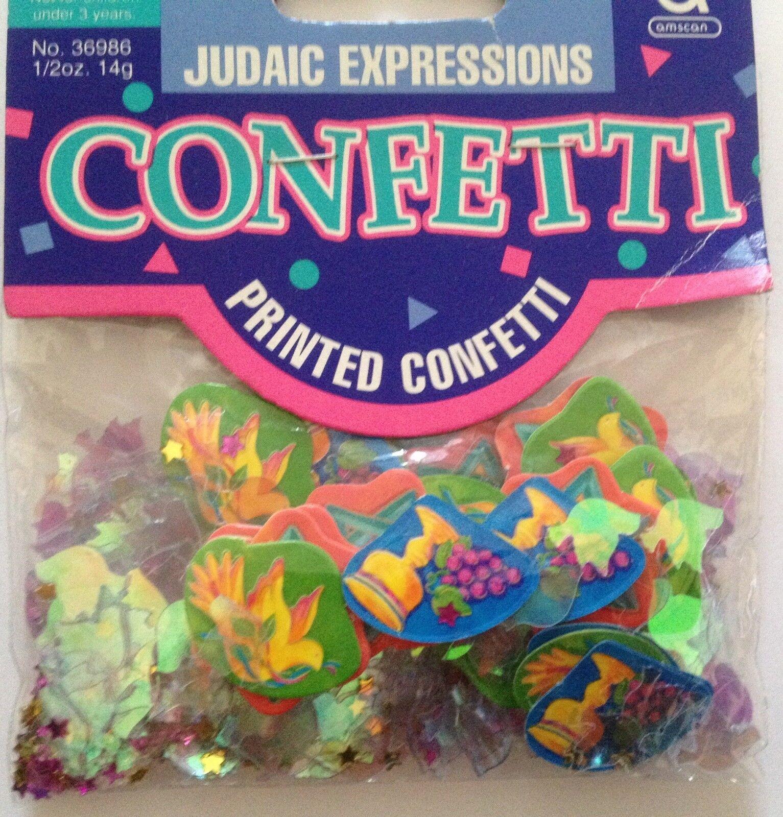 14G BAG! JEWISH CELEBRATION JUDAIC EXPRESSIONS STAR OF DAVID TABLE CONFETTI