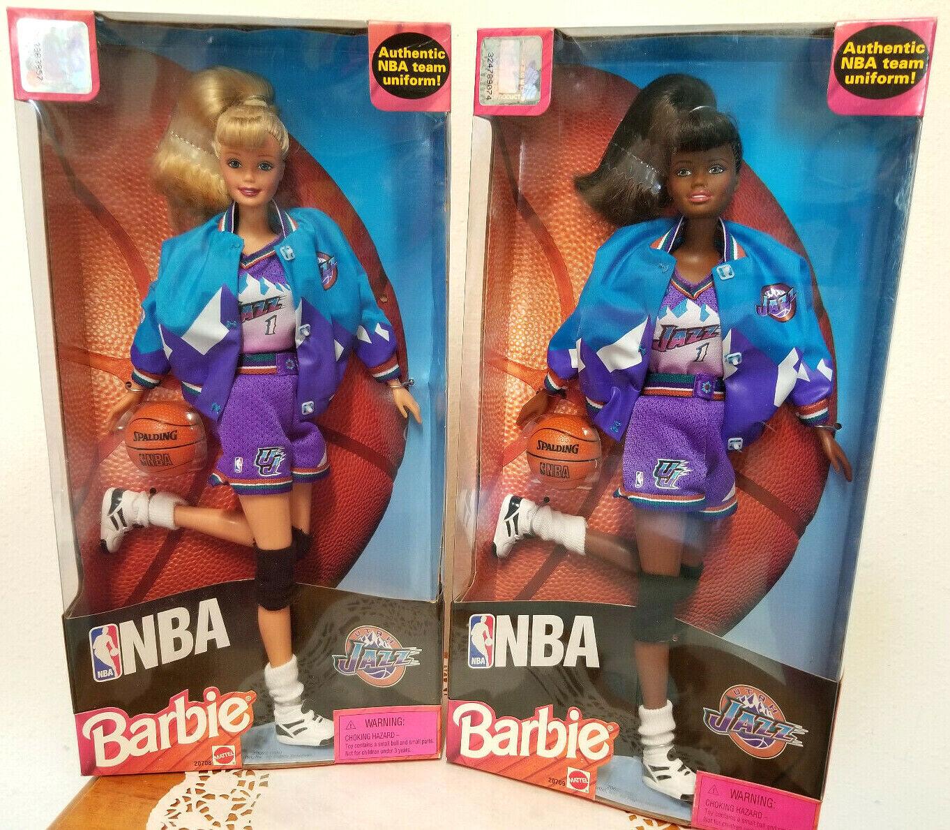 NBA UTAH JAZZ  Barbie & African American Barbie NRFB