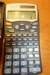 Sharp EL-520W *SOLAR* Advanced D.A.L. Twin Power Scientific Calculator Case Batt