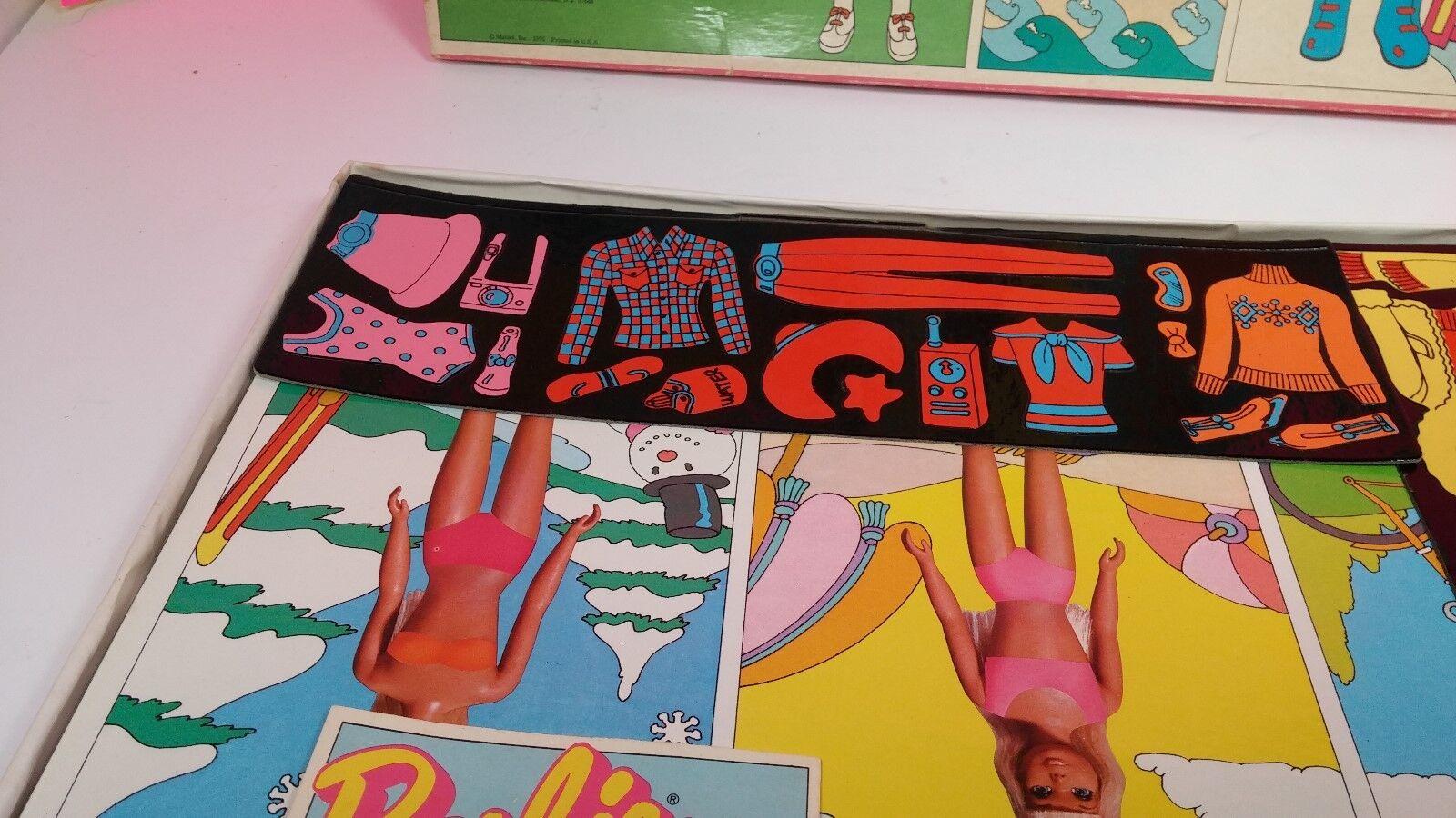 Mattel Barbie 1975 colorforms Sport Fashion Set Set Set Vintage Doll Complete in Box 7cb9c8