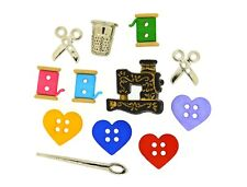 For the Love of Quilting Sewing Machine Novelty Buttons Jesse James Theme Pack