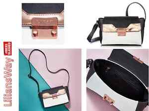 Image Is Loading Avon Lipsy Colour Block Cross Body Bag Metallic