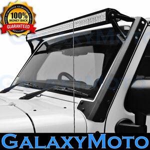 "50"" 52""  LED Light bar Windshield Mounting Brackets for 07-18 Jeep Wrangler JK"