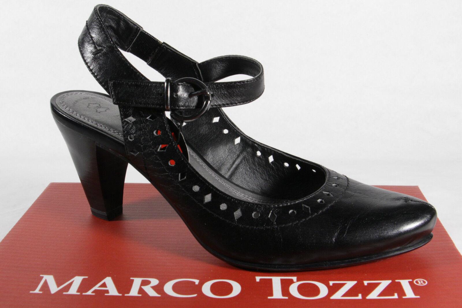 Marco Tozzi Damen Sandale Sling Echtleder schwarz NEU