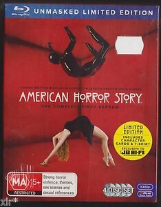 AMERICAN-HORROR-STORY-SEASON-1-BLU-RAY-BOX-SET-WITH-T-SHIRT-amp-COLLECTOR-CARDS