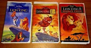 The Lion King Trilogy Vhs Clamshell 1 1 1 2 Ii Simba S Pride Free Dvds 786936222159 Ebay