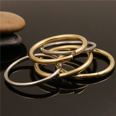 Solid Brass//Stainless steel Lock O Ring Quick Release jump ring Keychain Loop