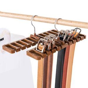 Storage-Rack-Tie-Belt-Organizer-Space-Saver-Tops-Bra-Rotating-Hanger-Holder