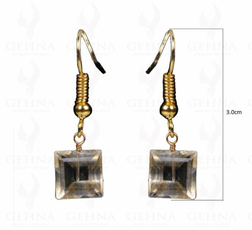 CITRINE GEMSTONE EARRINGS MADE WITH .925 STERLING SILVER ES1116