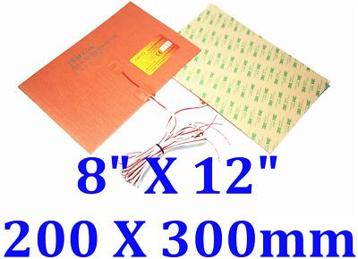 "7.9/"" X 7.9/"" 200 X 200mm 10W w// 3M tape 30mm for wires JSRGO CE UL Kapton Heater"
