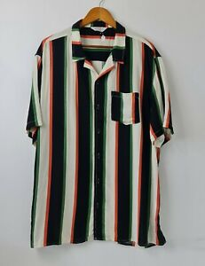 Vintage-Re-mastered-by-Cotton-on-Mens-Colorblock-Stripes-Button-Up-Shirt-Sz-XXL