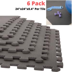 Gym Flooring Rubber Floor Mats Interlocking Foam Tiles Garage