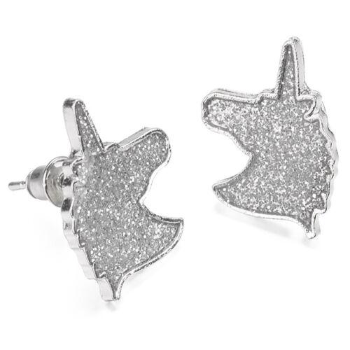"""Unicorn Ear Stud Earrings Cartoons Animal Glitter Horse Earrings Women Jewelry/"""""""