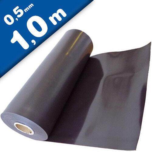Magnetfolie roh braun unbeschichtet 0,5mm x 62cm x 100cm Meterware