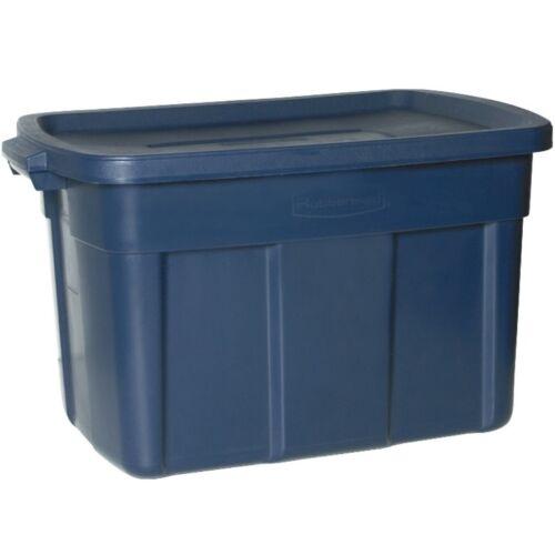 25 Gallon Cannot Ship CA Rubbermaid Rough Neck Tote STORAGE BOX CONTAINER Blue