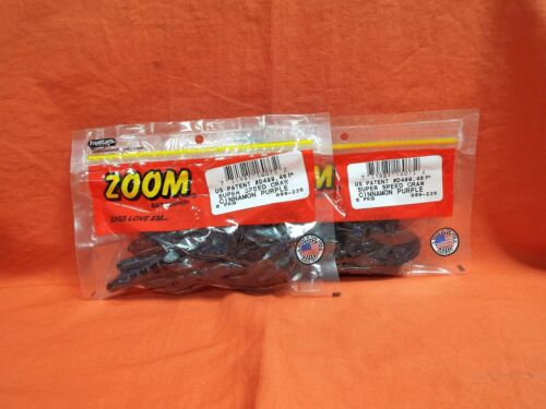 2 Pcks Zoom Super Speed Craw 8cnt #089-226 Cannelle violet