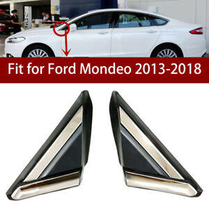2X-Front-Side-Door-Window-Triangle-Cover-Trim-Panel-Fit-For-Ford-Fusion-2013-18