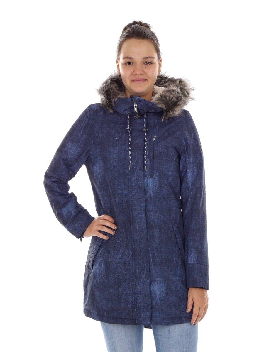 O 'Neill Parquea función  abrigo abrigo invernal azul Denim Print Frontier  todos los bienes son especiales