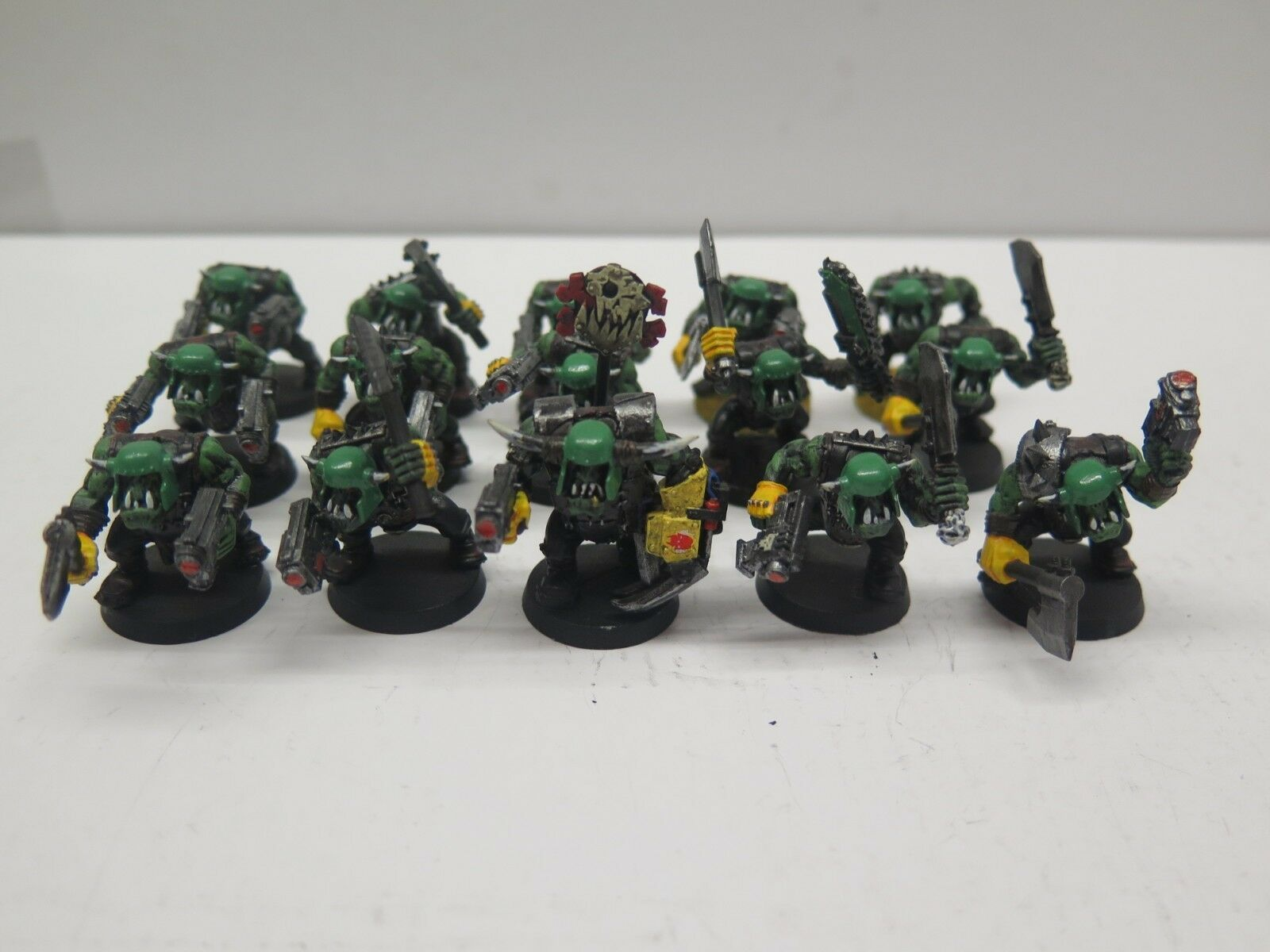 GW WARHAMMER 40K Plastic Nobz Green Squad (15) Pro Painted