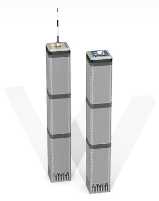 Custom Lego Building Twin Towers New York Skyscraper