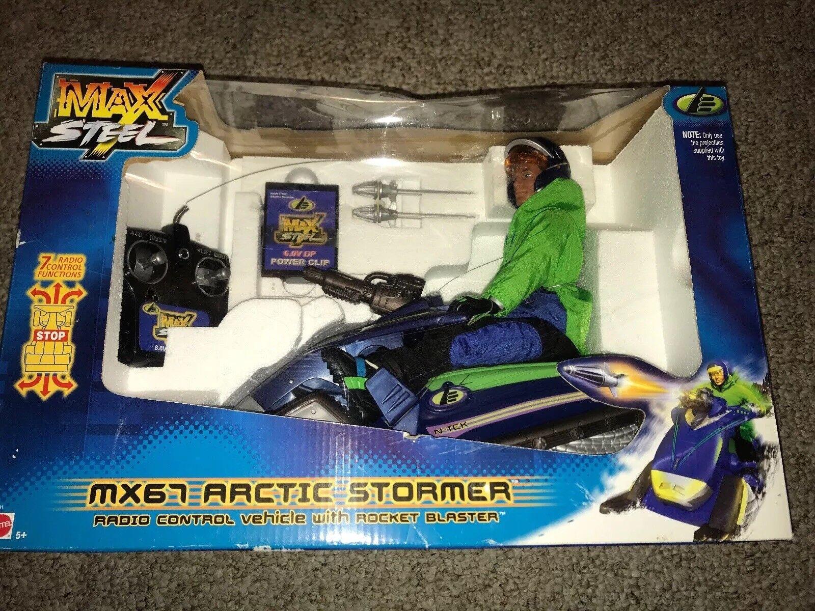2008 Max Steel Tyco R C MX67 Arctic Stormer Radio Control 1 6 Vehicle & Figure