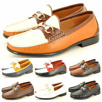 Men's Leather Look Casual Loafers Moccasins Slip on Smart Shoes UK Sizes 6-11