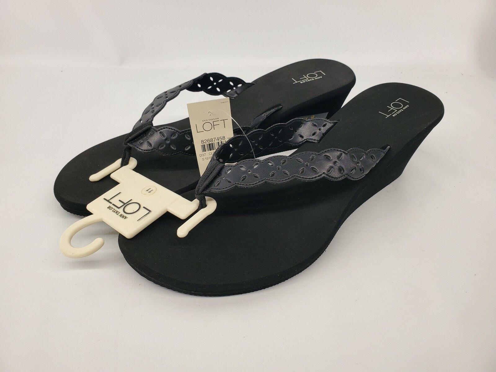 Vintage New ANN TAYLOR LOFT Compensé String Sandales Taille 11
