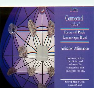 I-AM-CONNECTED-Grid-Card-4x6-034-Heavy-Cardstock-For-Use-with-Healing-Crystals